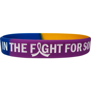 """In The Fight"" Ink-Filled Wristband Bracelet - Blue, Purple, Marigold"