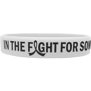 """In The Fight"" Ink-Filled Silicone Wristband Bracelet - White"