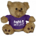 Fight Like a Girl Teddy Bear Stuffed Animal Lupus Epilepsy Pancreatic Cancer Chiari Purple