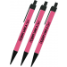 Fight Like a Girl Vertical Ball Point Ink Pens 3 Pack - Hot Pink