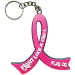 Fight Like a Girl Pink Ribbon Key Chain for Breast Cancer