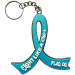 """Fight Like a Girl Hybrid"" Awareness Ribbon Keychain - Teal"