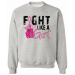 Fight Like a Girl Breast Cancer Sweatshirt With Boxing Gloves