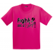 Fight Like a Girl Youth T-Shirt for Kids Hot Pink Breast Cancer