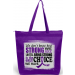 """""""How Strong We Are"""" Darcey Tote Bag - Purple"""