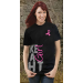 Fight Like a Girl Side Wrap T-Shirt - Black with Pink