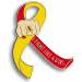 Fight Like a Girl Lapel Pin - Hepatitis C
