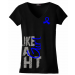 Fight Like A Girl V-Neck T-Shirts for Anal Cancer, AS, RA, CFS, Colon Cancer, Guillain Barre, Huntington's Disease, Rectal Cancer, Reye's Syndrome, Syringomyelia