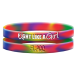 Fight Like a Girl Tie-Dye Wristband Bracelets