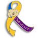 Fight Like a Girl Lapel Pin - Bladder Cancer