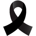 Black Melanoma Ribbon