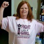 Tammy Fibromyalgia Fight Like a Girl T-Shirt