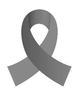 Grey Brain Tumor Awareness Ribbon