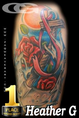 Tattoos for a cause photo contest 2011 winners fight for Fight like a girl tattoos pictures