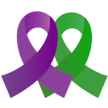 Purple and Green Ribbons