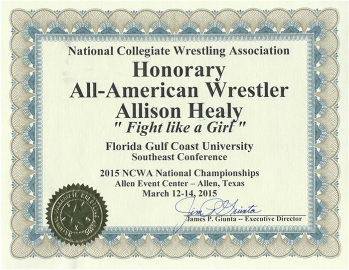 Allison Certificate