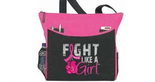 Breast Cancer Fight Like a Girl Tote Bag - Dakota