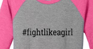 Fight Like a Girl Baseball T-Shirt Breast Cancer